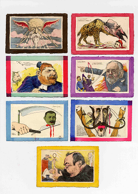 Cartes postales caricatures Orens